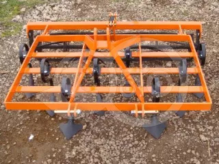 Cultivator 140 cm, with clod crusher, for Japanese compact tractors, Komondor SKU-140 (1)