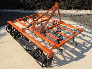 Cultivator 160 cm, with clod crusher,  for Japanese compact tractors, Komondor SKU-160 (1)