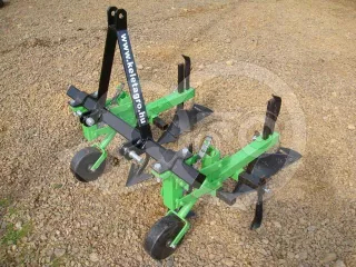 Cultivator with 2 hoe units, with hiller, for Japanese compact tractors, Komondor SK2 (1)