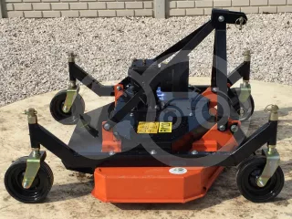 Finishing mower 120 cm, with 4 wheels and 3 blades, for Japanese compact tractors, DM120 (1)