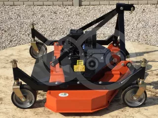 Finishing mower 150 cm, with 4 wheels and 3 blades, for Japanese compact tractors, DM150 (1)