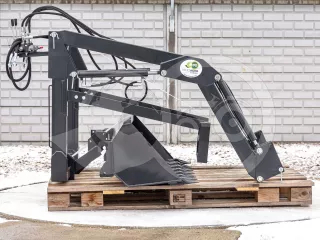 Front loader for Iseki TF21F, TF23F Japanese compact tractors, Komondor MHR-100TF21F (1)