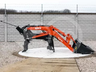 Front loader for Kubota GL260 Japanese compact tractor, used, made in Japan, Kubota TLH320 (1)