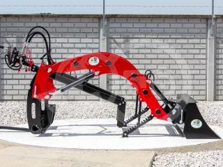 Front loader for Yanmar AF-16 Japanese compact tractors, Komondor PHR-250AF-16 (1)