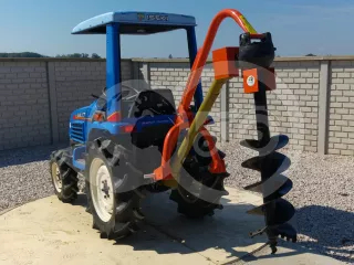 Hole digger machine, with PTO shaft, for Japanese compact tractors (1)