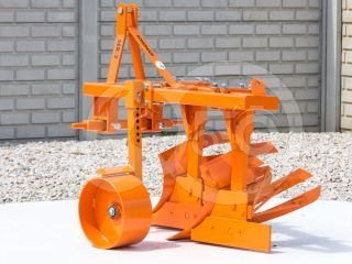 Plow with 2 heads, for 15-23HP Japanese compact tractors, Komondor SER-2 (2)