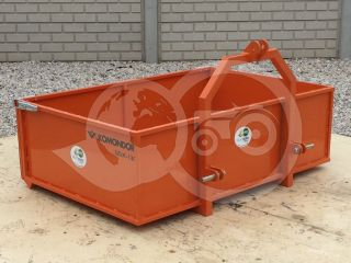 Transport box 130 cm, for Japanese compact tractors, drop down tailboard, Komondor SZLH-130 (0)