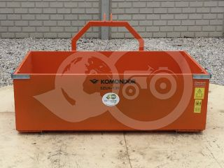 Transport box 130 cm, for Japanese compact tractors, drop down tailboard, Komondor SZLH-130 (3)