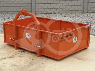 Transport box 130 cm, for Japanese compact tractors, drop down tailboard, Komondor SZLH-130 (6)