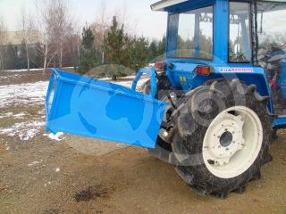Transport box 130 cm, for Japanese compact tractors, drop down tailboard, Komondor SZLH-130 (8)