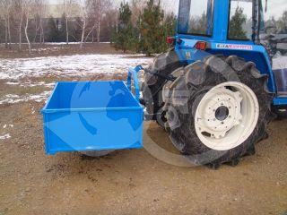 Transport box 130 cm, for Japanese compact tractors, drop down tailboard, Komondor SZLH-130 (9)