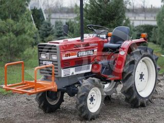 Transport frame, front weight holder mounted, for Japanese compact tractors, Komondor SZK-70 (1)