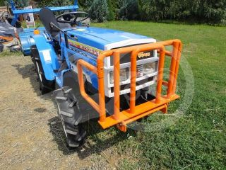 Transport frame, front weight holder mounted, for Japanese compact tractors, Komondor SZK-70 (3)