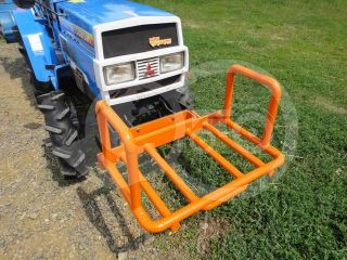 Transport frame, front weight holder mounted, for Japanese compact tractors, Komondor SZK-70 (4)
