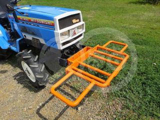 Transport frame, front weight holder mounted, for Japanese compact tractors, Komondor SZK-70 (5)