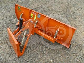 Snow plow 140cm, hidraulic lifting, hidraulic angle adjustment, for Japanese compact tractors, Komondor STLRH-140 (0)