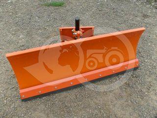 Snow plow 140cm, hidraulic lifting, hidraulic angle adjustment, for Japanese compact tractors, Komondor STLRH-140 (6)
