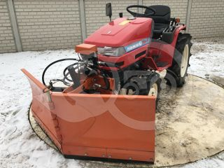 Snow plow 150cm, vario, independent side by side adjustable, for Japanese compact tractors, Komondor SHE-150 (0)