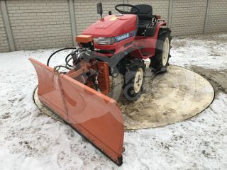 Snow plow 150cm, vario, independent side by side adjustable, for Japanese compact tractors, Komondor SHE-150 (1)