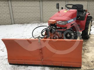 Snow plow 150cm, vario, independent side by side adjustable, for Japanese compact tractors, Komondor SHE-150 (2)