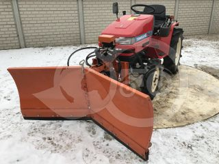 Snow plow 150cm, vario, independent side by side adjustable, for Japanese compact tractors, Komondor SHE-150 (3)