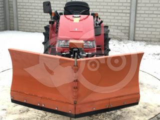 Snow plow 150cm, vario, independent side by side adjustable, for Japanese compact tractors, Komondor SHE-150 (4)