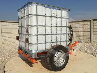 Irrigation trailer for Japanese compact tractors, Komondor SOP-1000 (2)