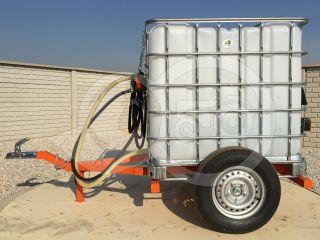 Irrigation trailer for Japanese compact tractors, Komondor SOP-1000 (5)
