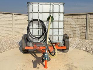 Irrigation trailer for Japanese compact tractors, Komondor SOP-1000 (7)