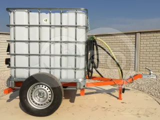 Irrigation trailer for Japanese compact tractors, Komondor SOP-1000 (1)
