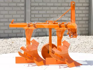 Plow with 2 heads, for 15-23HP Japanese compact tractors, Komondor SER-2 (1)