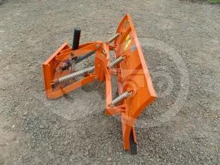 Snow plow 125cm, hidraulic lifting, hidraulic angle adjustment, for Japanese compact tractors, Komondor STLHR-125 (1)