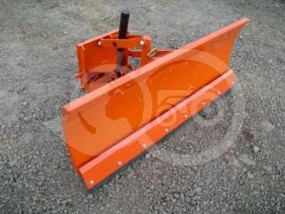 Snow plow 125cm, hidraulic lifting, manual angle adjustment, for Japanese compact tractors, Komondor STLR-125 (1)