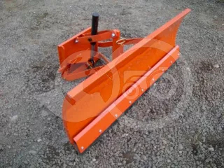 Snow plow 140cm, hidraulic lifting, manual angle adjustment, for Japanese compact tractors, Komondor STLR-140 (1)