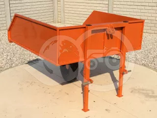 Transport container 130 cm, rear mounted wheels (1)
