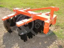 Disc harrow 110 cm, for Japanese compact tractors, Komondor SFT-110