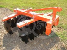 Disc harrow 110 cm, for Japanese compact tractors, Komondor SFT-110