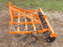 Cultivator 140 cm, with clod crusher, for Japanese compact tractors, Komondor SKU-140