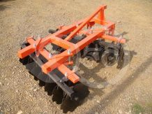 Disc harrow 130 cm, for Japanese compact tractors, Komondor SFT-130