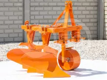 Plow with 2 heads, for 16-23HP Japanese compact tractors, Komondor SE-2